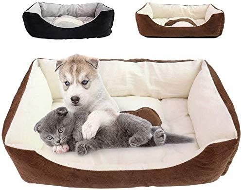 IMBM Catkoo Cama para mascotas, gatos, portátil, calentamiento, suave, cama de dormir, casa, canastas, casas, canastilla, mezcla de algodón transpirable