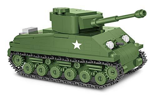 Konstruktionsspielzeug kleine Armee COBI 2705 M4A3E8 Sherman PanzerTanks Bausteine 315 hochwertige Blöcke+ Mauspad von Juminox Gratis