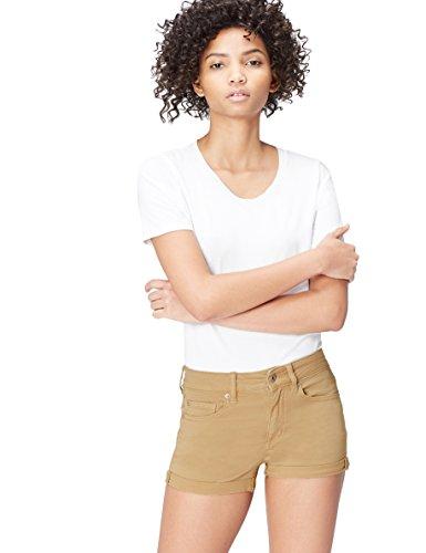 find. Shorts Damen Jeansshorts Hotpants mit 5-Pocket-Design, Braun (Brown), 40 (Herstellergröße: 12)