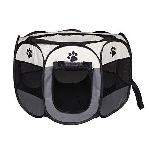JKRTR Haustier Katze Hund Spielzeug 2019,Zelt Outdoor Zaun tragbare Katze Hund Faltbare Pop Up Camping Zelt Trompete(Multicolor-4,Gefaltet:32x43cm Entfaltet:74x74x43cm)