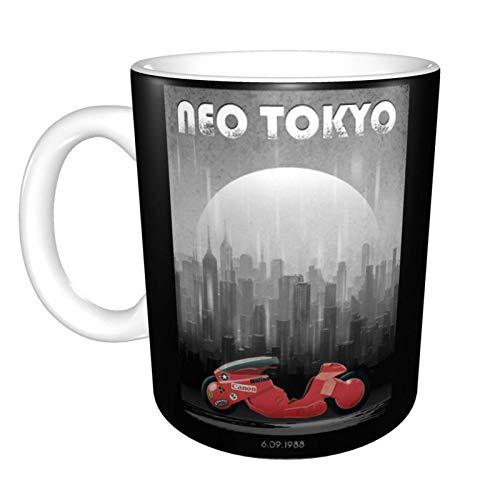 Anime Akira Neo Tokio Taza de café de cerámica única novedad taza de té de café en casa oficina para amantes del anime Festival regalo de cumpleaños