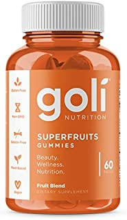 SUPERFRUITS Vitamin Gummy by Goli Nutrition - 60 Count - with Collagen-Enhancing Ingredients....
