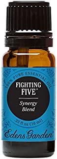 Edens Garden Fighting Five Essential Oil Synergy Blend, 100% Pure Therapeutic Grade (Highest Quality Aromatherapy Oils- Cold Flu & Detox), 10 ml