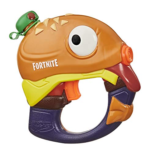 Nerf Super Soaker Fortnite Beef Boss Water Blaster -- Fortnite Beef Boss Character Design -- Easy-to-Carry Micro Size -- for Kids, Youth, Adults