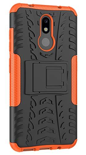 XINFENGDI Nokia 3.2 Hülle,Handytasche Kratzfest aus TPU/PC Material Reifenprofil Handyhülle Kompatibel mit für Nokia 3.2 - Orange