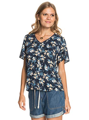 Roxy - Camiseta de Manga Corta - Mujer - XS - Azul