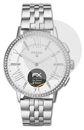 atFoliX Panzerfolie kompatibel mit Fossil Q Gazer Schutzfolie, entspiegelnde & stoßdämpfende FX Folie (3X)