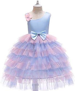 Light Purple Holiday Dresses Girls Wear Mesh Princess Cake Skirt for 3-4Y
