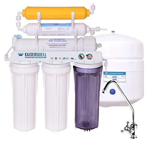 kaiserquell Wasserveredelung 5 stufig oder 6 stufig Osmoseanlage Umkehranlage Wasserfilter kalkfrei inkl Mineralien Leichter Einbau für gesundes Trinkwasser (Chromulus, Vitalisierer)