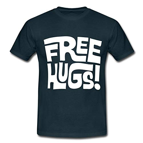 Free Hugs Männer T-Shirt, S, Navy