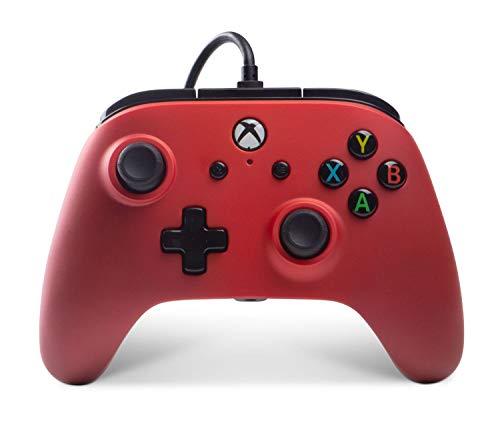 PowerA Manette filaire Xbox One Enhanced - Crimson Fade