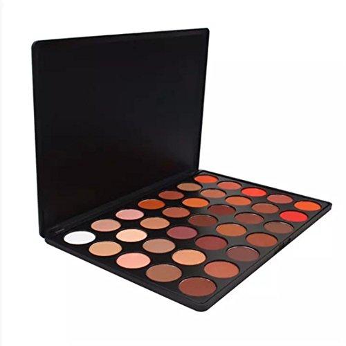 YYF Highlighter Flawless Kosmetische Schimmer Glitter Lidschatten Pulver Palette 35 Farben Matt...