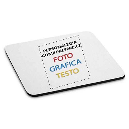 Tappetino Mouse Pad Personalizzato Personalizzabile Custom Con Foto e Scritte