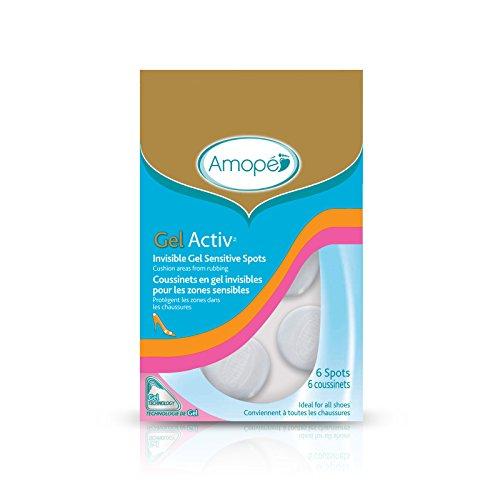 Amopé GelActiv Invisible Gel Senstive Spots , Insoles for Women, 6 spots