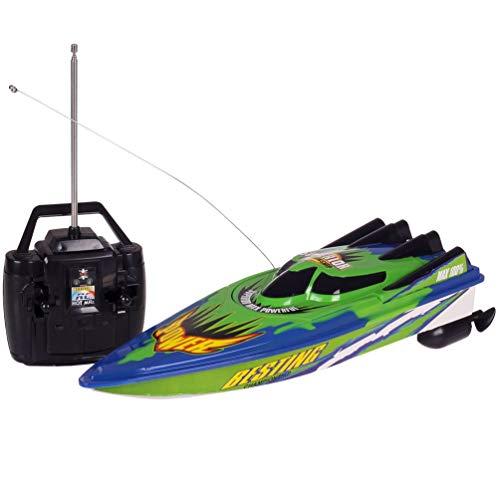 SWEEPID Nuevo Control remoto de radio Dual Motor Speed Boat RC Racing Boat Alta velocidad fuerte sistema de energía tipo fluido diseño, azul y verde