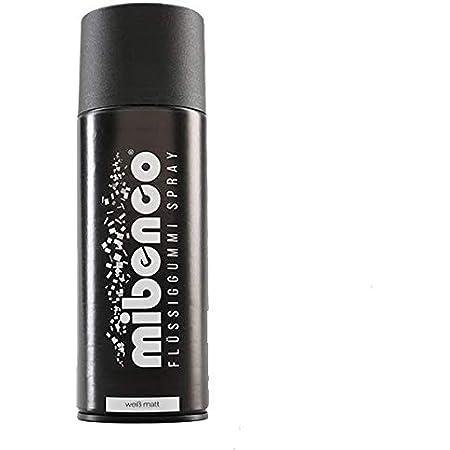 Mibenco 71429010 Flüssiggummi Spray Sprühfolie Weiß Matt 400 Ml Neue Farbe Und Schutz Für Oberflächen Und Zum Felgen Lackieren Auto