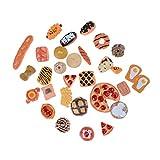 Sungpunet 10pcs Mini Mignon gâteau Nourriture Fruit Fruit Jouets Biscuits sucrés Accessoires Donuts poupées Miniatures Cuisine Jouer à Jouets pour Les Enfants de la Maternelle