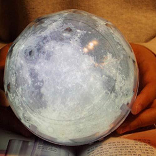 Romantique Starry Night Sky Light Projecteur étoile Lampe étoile MasterPlanet Magie de la terre Univers LED coloré RotateFlashing enfants cadeau (Color : Rotate, Emitting Color : Moon)