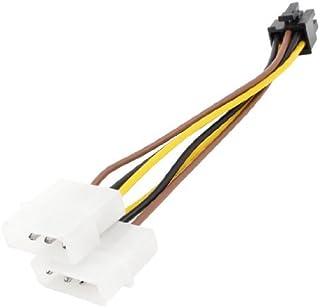 DealMux PCI Express 6-pins naar 2 x LP4 4-pins videokaart voedingsadapterkabel