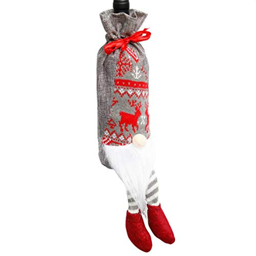 CAIRLEE Navidad decoración botella de vino bolsa bigote vino bolsa regalo fiesta fiesta decoración festival
