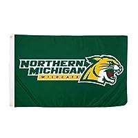 Desert Cactus Northern Michigan University NCAA 100% Polyester Indoor Outdoor 3 feet x 5 feet Flag (Style 6a) [並行輸入品]
