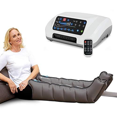 Vein Angel 6 Premium Equipo de Presoterapia Profesional con botas, 6 cmaras de aire desactivables, presin y tiempo fcilmente configurables, 6 programas de masaje