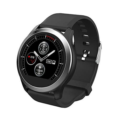 JIANG Gesundheit & Fitness Smartwatch, Smartwatch Ring Herzfrequenz Blutdruck Schlafüberwachung Sportstufe Wasserdicht Anruf Vibration,C
