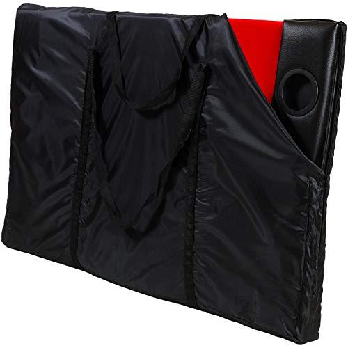 Maxstore Deluxe Faltbare Pokerauflage mit Tasche, 208x106x3 cm, MDF Platte, Gepolsterte Armauflage, 10 Getränkehalter - 7