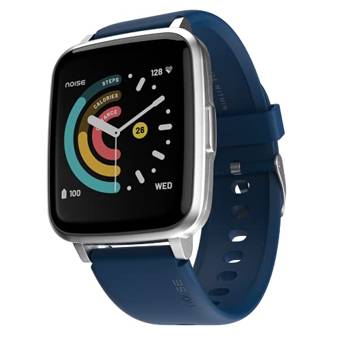 """Noise ColorFit Pulse Smartwatch with 1.4"""" Full Touch HD Display, SpO2, Heart Rate, Sleep Monitors & 10-Day Battery - Royal Blue"""