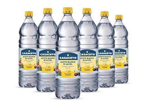 Aceto Bianco Di Alcol 'Casaceto' Aromatizzato al Limone | De Nigris 1889 | 6 x 1 Litro