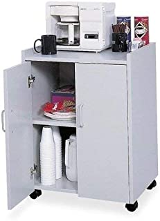 Safco Products Mobile Refreshment Hospitality Center, Gray