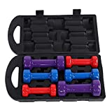 AYNEFY Dumbbell Set, Colorful Non Slip Grip Fitness Gym Home Weight Lifting Hand Dumbbell for Exercise Weight Loss and Body Building (10)