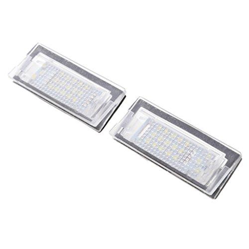 MagiDeal 2pcs Lampe Plaque d'Immatriculation 6000K 18LED Lumière Blanc 12 V