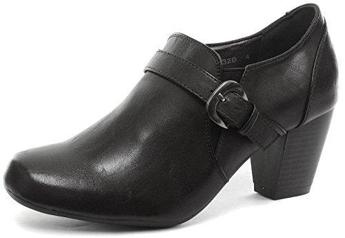 Boulevard Anna à Talon Boucle/Gusset mi Talon Chaussures Mode - Noir, 8 UK
