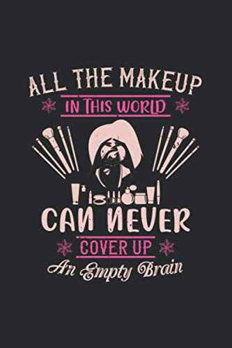 All The Makeup In This World Can Never Cover Up An Empty Brain: Graph Ruled Beauty Makeup Composition Notebook, Great for Mathematics, Formulas, Sums & Drawing