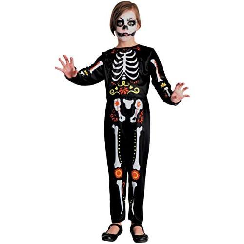 Costume bambino Scheletro Dia de los muertos, 5-7 anni