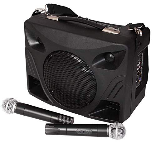 IBIZA PORT85UHF-BT MOBILE BESCHALLUNGSANLAGE MIT USB SD BLUETOOTH UND FUNKMIKROFON PARTY DISCO MUSIK LAUTSPRECHER DJ EVENT BÜHNE SOUNDSYSTEM