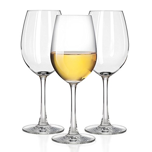 Outdoor White wine glasses, Smooth Rims - 100% Tritan Plastic -Dishwasher-safe, shatterproof wineglasses - by TaZa -Set of 4 (12 oz)