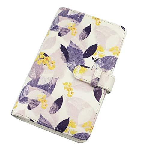 Shaveh Mini-Fotoalbum mit 108 Taschen, für Fujifilm Instax Mini 11 9 8 Kamera, Polaroid Snap, Z2300, SocialMatic Sofortbildkameras & Zip Sofortdrucker (violette Blätter)