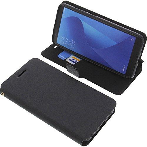 foto-kontor Custodia a Libro per ASUS ZenFone Max Plus M1 di Colore Nero