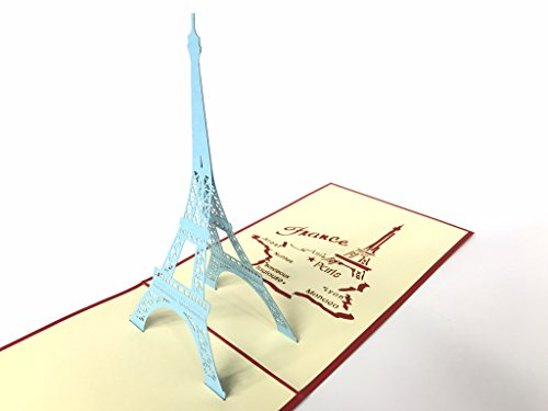 Tour Eiffel Parigi 3D Pop Up Greeting Cards Anniversary Baby Birthday Easter Halloween Mother' S FATHER' S DAY New Home New Year Thanksgiving Valentine Wedding Christmas