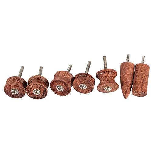 Hilitand 7 stks Rozenhout Lederen Burnisher Dremel Punt Lederen Rand Slicker Gepolijst Boor Leathercraft Carving Tool