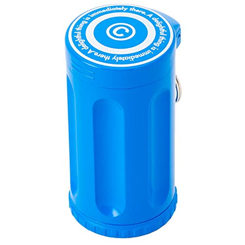 Dreams(ドリームズ) 携帯灰皿 シガーネスト ハニカム 7本収納 ブルー MDL45056 直径3.5×高さ7.0cm