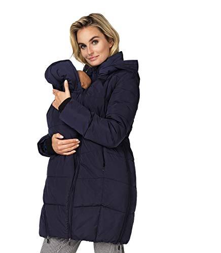 Noppies Damen Umstands Jacke Jacket Winterjacke/mit Baby Tragetuch (38 (Herstellergröße: M), Night Sky (P277))