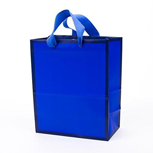 Hallmark 9' Medium Gift Bag (Navy Blue) for Birthdays, Hanukkah, Fathers Day, Graduations, Baby Showers or Any Occasion