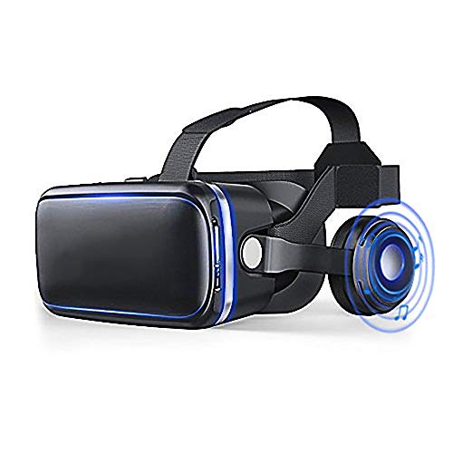 LIGHTOP VR Brille KAMLE 3D Headset Video Movie Game Brille with Bluetooth Controller für 3D Filme und Spiele Kompatibel mit 4.7~6 Zoll Smartphones