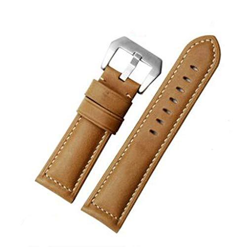 FOUUA Uhrenarmband PANERAI Armband 22mm 24mm 26mm Leder Vintage Military Uhrenarmband Uhrenarmband Relacement Band für PANERAI LUMINOR 44 Men