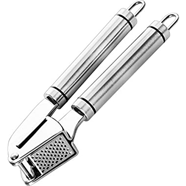 Utopia Kitchen -Professional Garlic Press - Stainless Steel and Silicone Material - Dishwasher Safe
