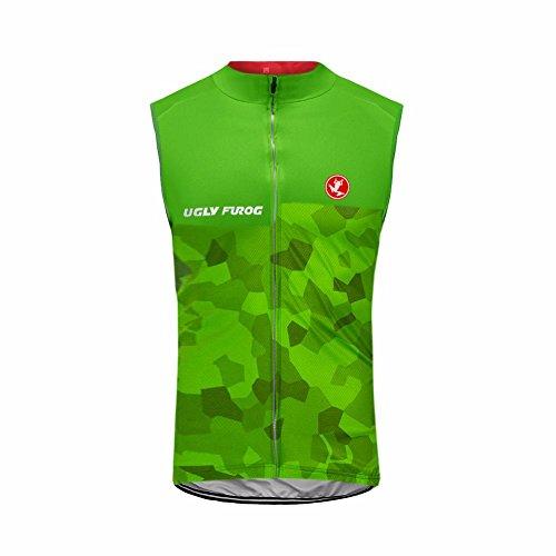 Uglyfrog Neue Herren Ärmellos Sleeveless Radtrikot Triathlon Vest Mens Breathable Sleeveless Radtrikot Weste Radfahren Shirts Fahrrad Tops für Fahrrad