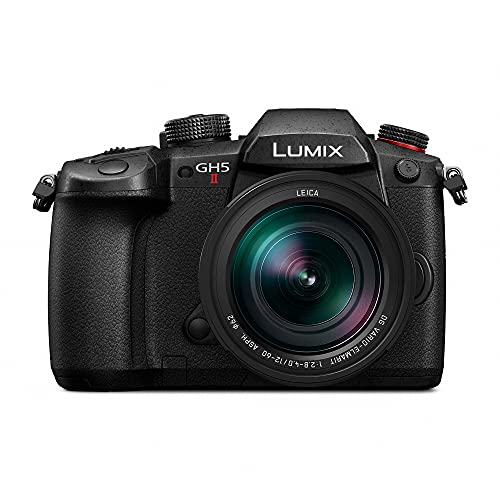 Panasonic LUMIX GH5M2, 20.3MP Mirrorless Micro Four Thirds Camera with Live Streaming, 4K 4:2:2 10-Bit Video, 5-Axis Image Stabilizer, 12-60mm F2.8-4.0 Leica Lens DC-GH5M2LK